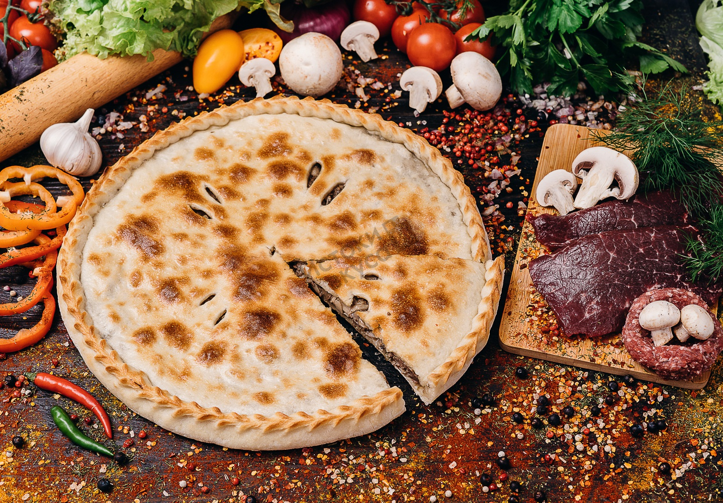 чем осетинский пирог с мясом картинки нашёл